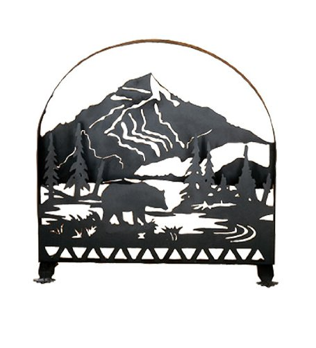 fireplace screen bear - 9
