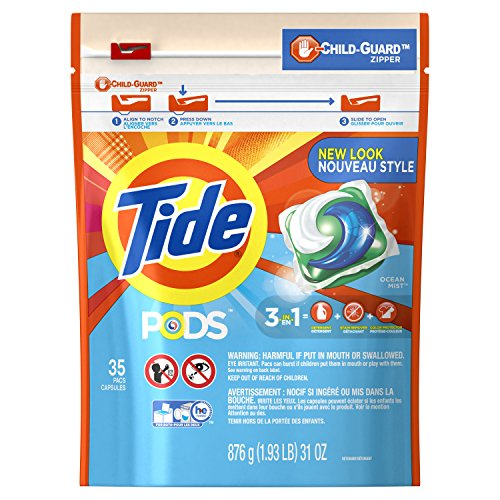Tide PODS Ocean Mist Scent HE Turbo Laundry Detergent Pacs, 35 count