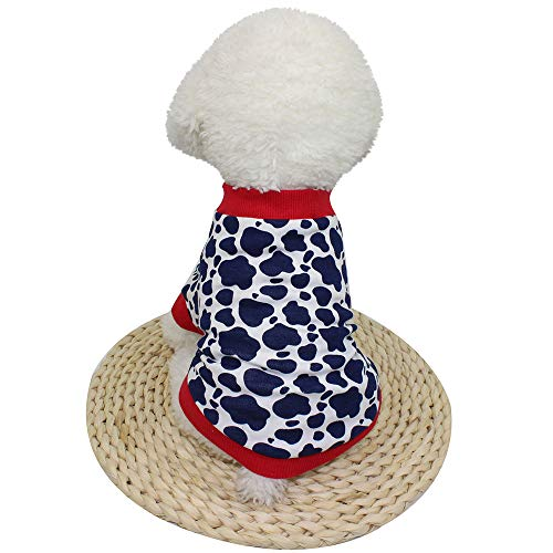 Amaping Pet Puppy Small Dog Clothes Chihuahua Coral Fleece Warm Vest Shirt Doggy Jacket Coat Apparel Winter Costume (M, Navy) -