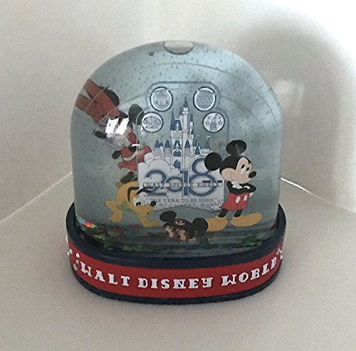 Walt Disney World 2018 Mickey Minnie Mouse The Year to Be Here Plastic - Mouse Snowglobe Mickey