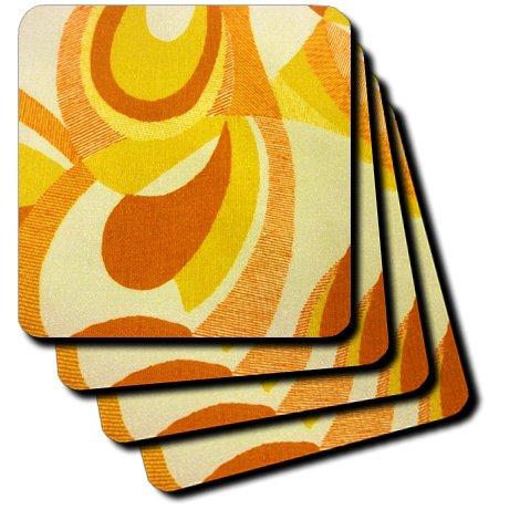 3dRose cst/_27061/_4 Mod in Orange-Ceramic Tile Coasters Set of 8