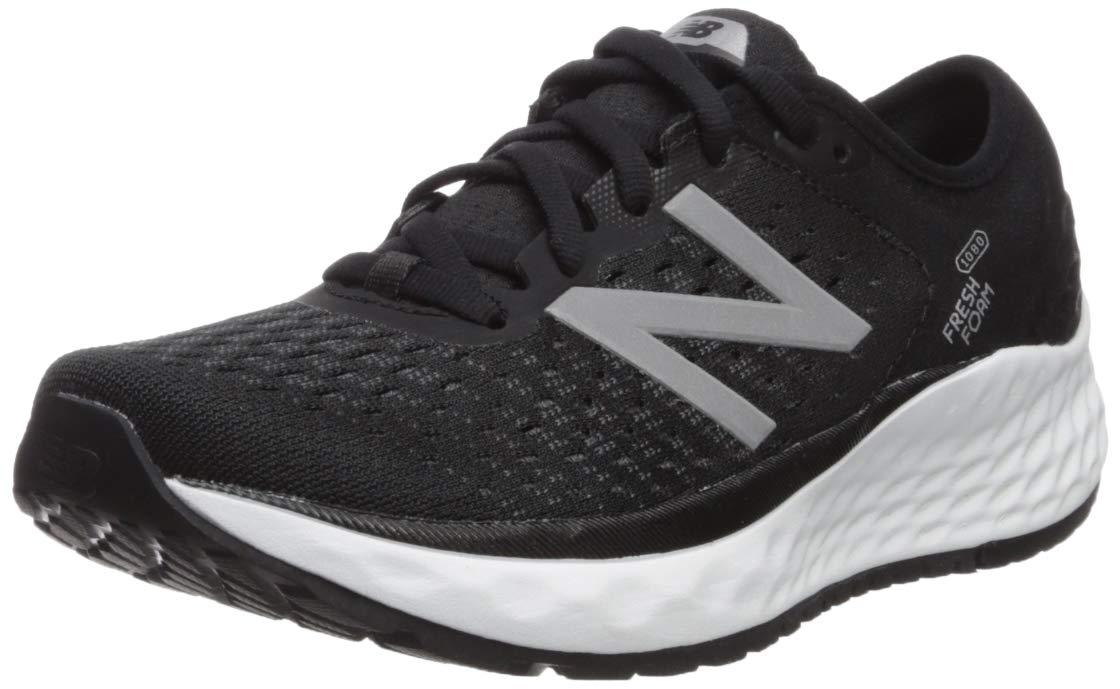 New Balance Women's 1080v9 Fresh Foam Running Shoe, Black/White, 8 M US by New Balance