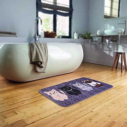 Nicedeal Nicedeal Creative Kawaii Welcome Floor Mats Animal Cat Print Bathroom Kitchen Carpets Bad and Bath Bad and Bath