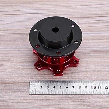 FireAngels Adaptador universal para volante de liberaci/ón r/ápida con 6 orificios para volante