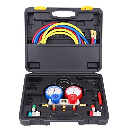 HH Limited Honhill A/C Diagnostic Manifold Gauge Set R134a R22 R410a R404a Air Conditioner Refrigeration Kit ()