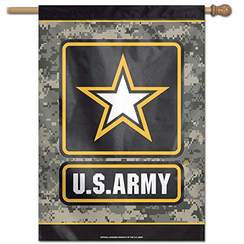 """WinCraft Military Army 43678117 United States Army Digi Camo 28"""" x 40"""" Vertical Flag, Multicolor"""