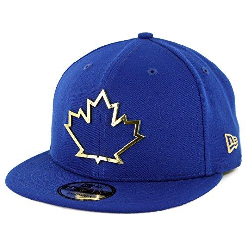 - MLB Toronto Blue Jays Snapback Cap New Gold Metal Framed Logo