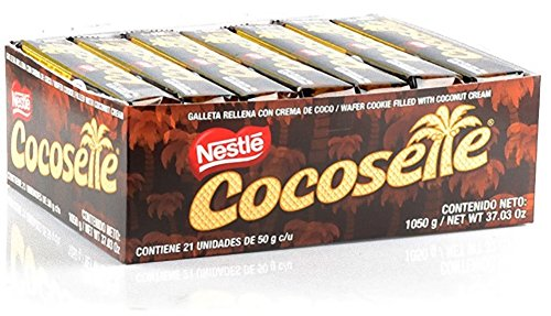 Cocosette, Wafer Cookie Filled with Coconut Cream, (pack of.