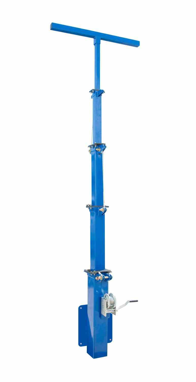 Five Stage Light Mast - 6.5' to 20' - Aluminum - Mount LED HID Halogen Metal Halide Fixtures