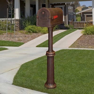 Savannah Curbside Mailbox with Bradford Mailbox Post Unit Color: Copper by Special Lite ()