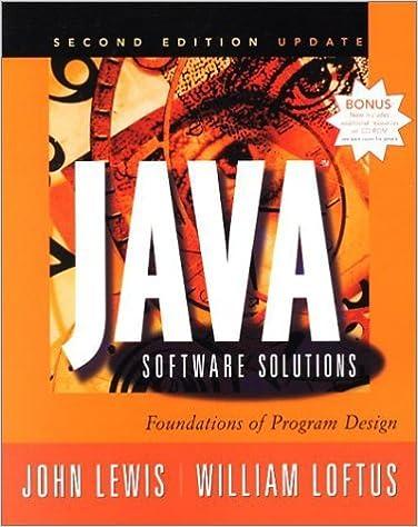 Téléchargez des livres complets gratuitement en ligne Java Software Solutions: Foundations of Program Design by John Lewis (2000-11-06) PDF B01K93P6DI