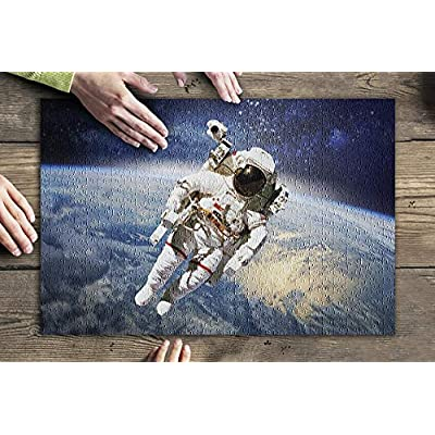 Astronaut in Outer Space with Planet Earth in The Background 9024392 (Premium 500 Piece Jigsaw Puzzle for Adults, 13x19, Made in USA!): Toys & Games