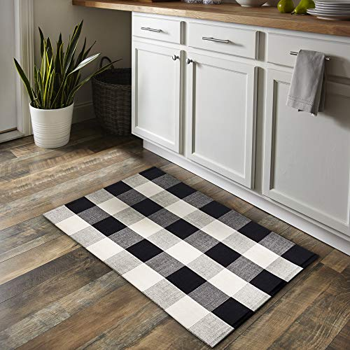 Cotton Buffalo Check Rug (23.6
