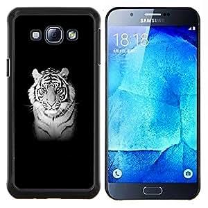 "Be-Star Único Patrón Plástico Duro Fundas Cover Cubre Hard Case Cover Para Samsung Galaxy A8 / SM-A800 ( Majestic Tigre Blanco"" )"