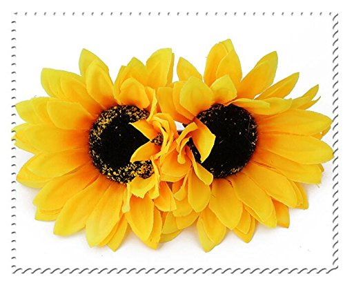 Sunflower and Glitter Hair Clip Set Fall Bar Clip Set Fall Clips for Girls Fringe Clips with Sunflowers