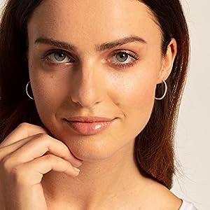 Thomas Sabo Women Silver Hoop Earrings – CR610-001-12