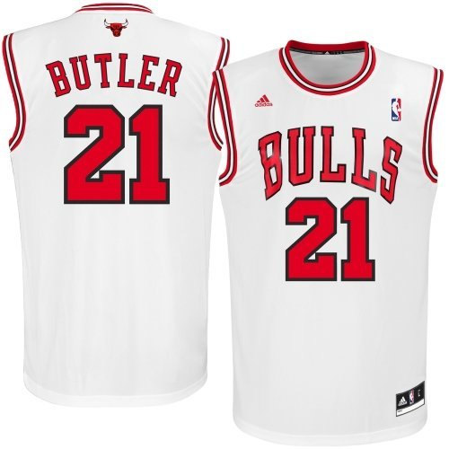 Chicago Bulls Jimmy Butler #21 Replica Jersey NBA Adidas Official White Printed (XX-Large)