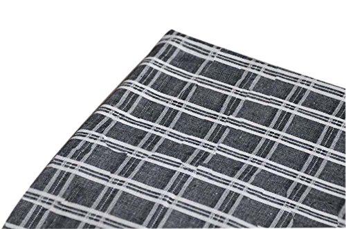 Wide Handworked Flax Fabric Linen Plain Fabric Black (14050 cm)