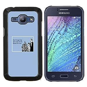 TECHCASE---Cubierta de la caja de protección para la piel dura ** Samsung Galaxy J1 J100 ** --Mamadas Flores Cita divertida Mujeres Hombres