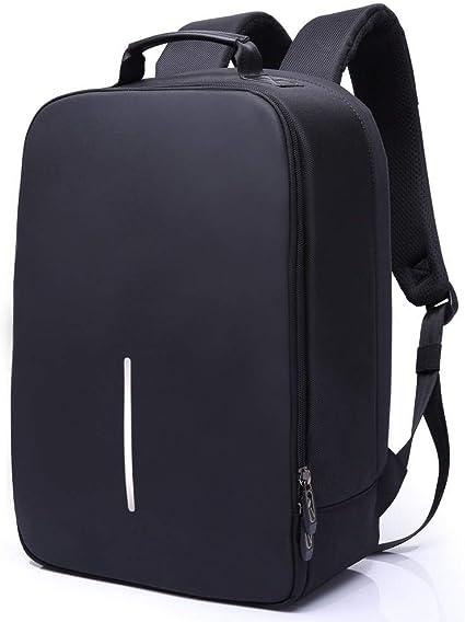 Zaino per PC Portatili uomo ideale Backpack per PC 15.6 pollici Porta computer nero. Zaino Per Laptop antifurto e impermeabile adatto a lavoro Borse Business Viaggio