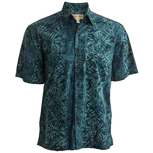 Johari West Geometric Forest Tropical Hawaiian Batik Shirt