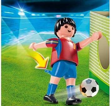 PLAYMOBIL 4730 - Jugador de fútbol España: Amazon.es: Juguetes y ...