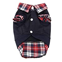 Howstar Pet Polo Shirt, Puppy Classic Sweater Warm T-Shirt Dog Cat Clothing (Black, L)