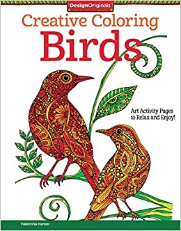 creative coloring birds art activity pages to relax and enjoy