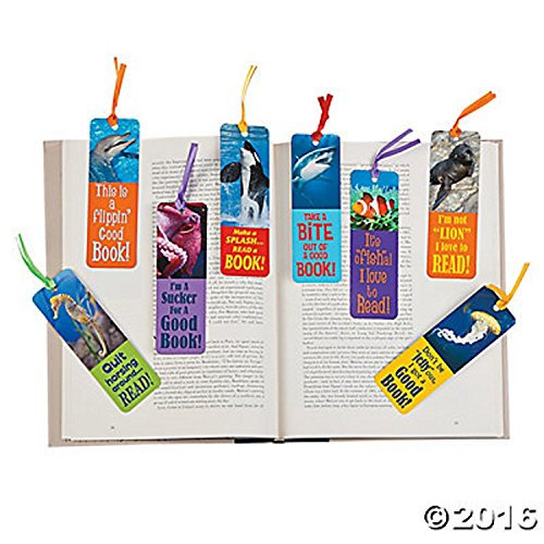 Fun Express Ocean Animals Kids Bookmarks for Classroom Supply & Party Favors | (96 Pack)]()