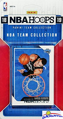 Orlando Magic 2018/2019 Panini Hoops NBA Basketball EXCLUSIVE Factory Sealed Limited Edition 9 Card Team Set with Evan Fournier, Aaron Gordon, Nikola Vucevic, Mo Bamba RC & Many More! WOWZZER!