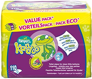 Pampers Kandoo Melon Toddler Wipes/3 x 55 per pack