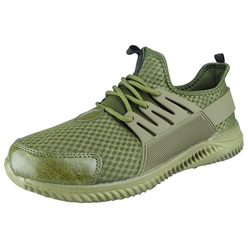 Sports Shoes 11 Size 6 Ladies Comfy Running Lace Fitness Trainers Khaki Mens Gym Up Womens H4YU1vwq