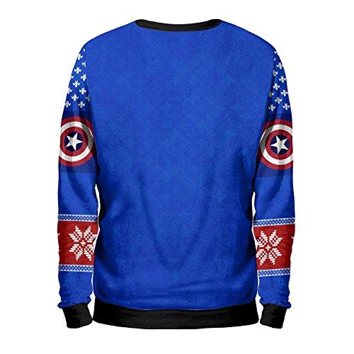 Noorhero - Sweatshirt Herren - Capitan America Christmas