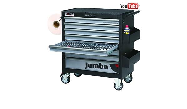 Sonic equipment-Sonic equipment-Carro de taller para herramientas JUMBO-533-7533: Amazon.es: Bricolaje y herramientas