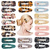 R HORSE 20Pcs Acrylic Resin Hair Clips Set Fashion Geometric Alligator Barrettes Leopard Pattern Vintage Hair Accessories Hairpins for Women