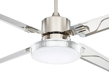 Ventilador de techo con luz Silencioso Ventilador de techo Ventilador de luz de techo Sencillo y moderno Ventilador de techo Comedor Araña Ventilador Luz de ventilador de salón antiguo LED 42/48 pulga: