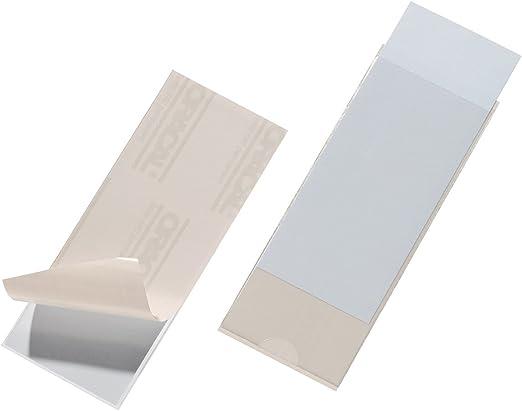 transparentes bolsas de 10 piezas cada una 105 x 65 mm 101 x 61 mm Durable 801919 Bolsillos autoadhesivos Pocketfix para etiquetas de inserci/ón