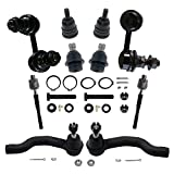 xterra upper ball joint - Prime Choice Auto Parts SUSPPKG0205 [Front set] 10 Pieces - 2 Ball Joints 2 Inner Tie Rods 2 Outer Tie Rods 2 Sway Bar Link/Kits 2 Upper Ball Joints