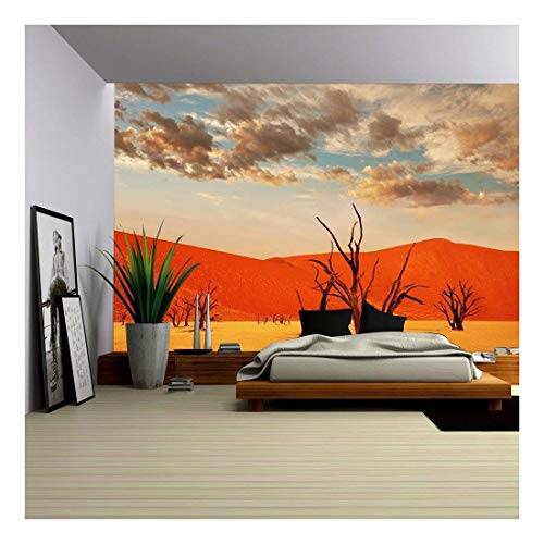 wall26 - Dead Valley in Namibia - Removable Wall Mural | Self-Adhesive Large Wallpaper - 66x96 inches