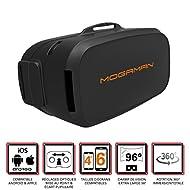 """Mogaman® F1 - Casque de réalité virtuelle pour smartphones Android et iOS (écrans de 4,0"""" à 6,0"""" inclus) avec réglage de l'optique - Champ de vision Extra Large 96° - Masque 3D VR Side-By-Side (SBS)"""