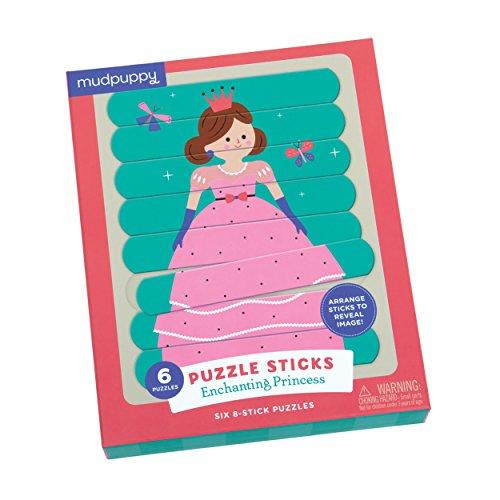 Mudpuppy Enchanting Princess Puzzle Sticks product image