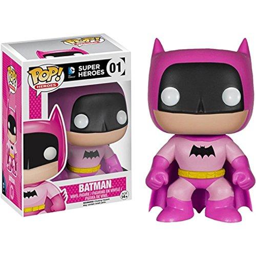 Toy - POP - Vinyl Figure - Batman - 75th Anniversary - Pink - EE Exclusive (DC (Batman Different Colored Costumes)