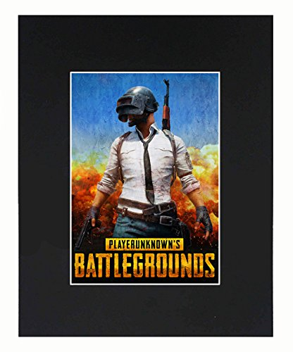 player unknown battlegrounds Game Video Game 8x10 Black Matted Art Artworks Print Paintings Printed Picture Photograph Poster Gift Wall Decor Display USA Seller