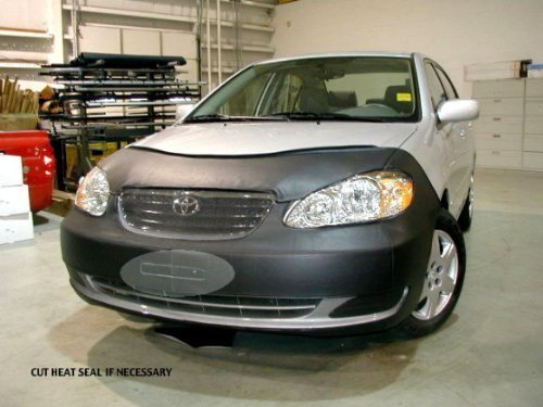 Corolla Front End Mask - Lebra 2 piece Front End Cover Black - Car Mask Bra - Fits - TOYOTA,COROLLA,,CE & LE Only,2005 thru 2007