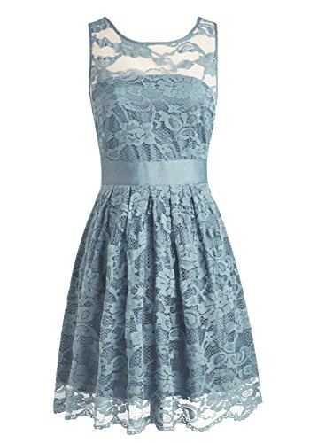 Bridesmaid Cdress Grayish Short Wedding Dress Flora Evening Blue Formal Gowns Dresses Lace Prom qrtprPw