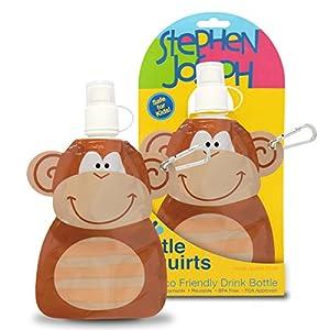 Stephen Joseph Little Squirts Water Bottle, Monkey, 2-Pack