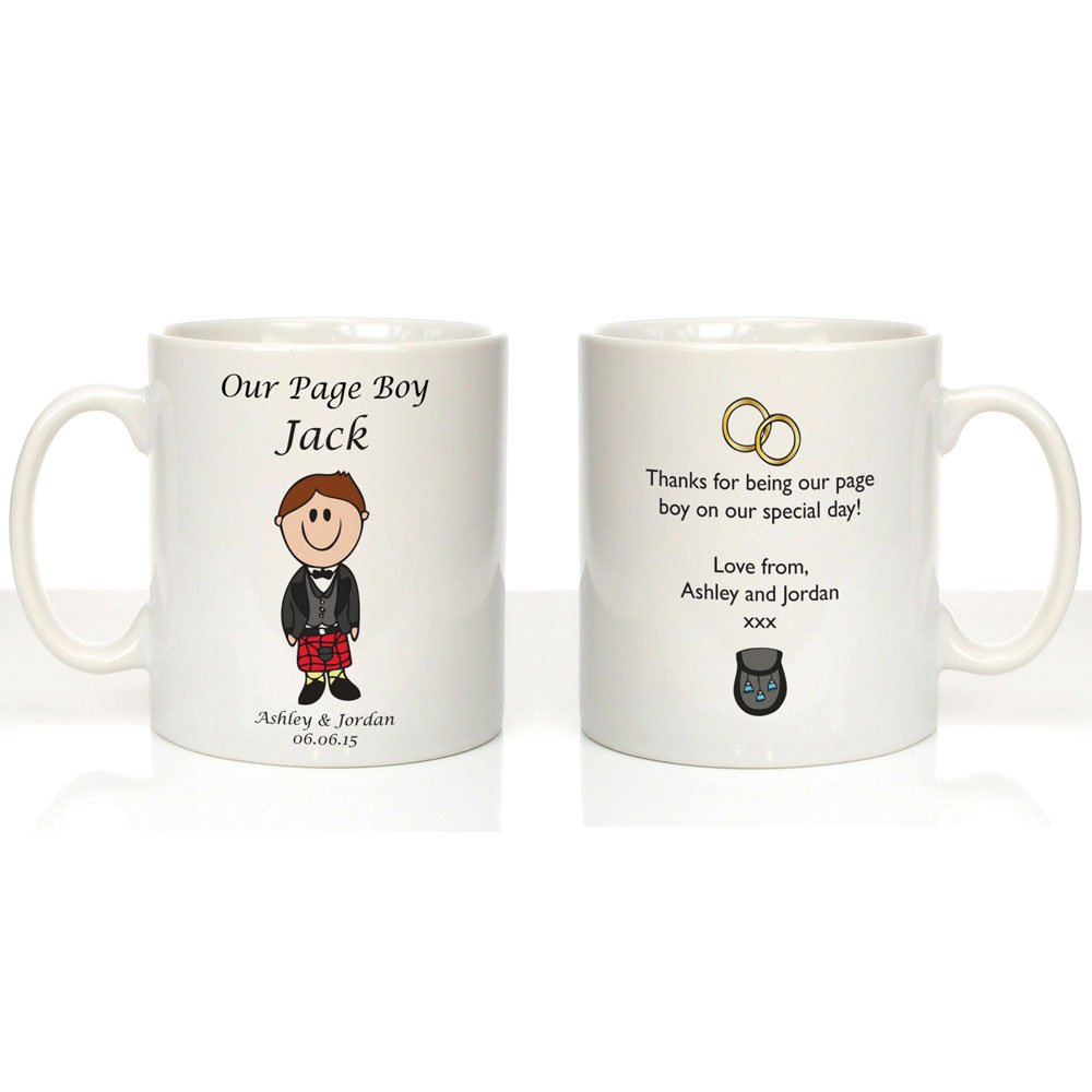 Personalised Page Boy Mug Page Boy Gifts Wedding Thank You Gifts Pageboy Present