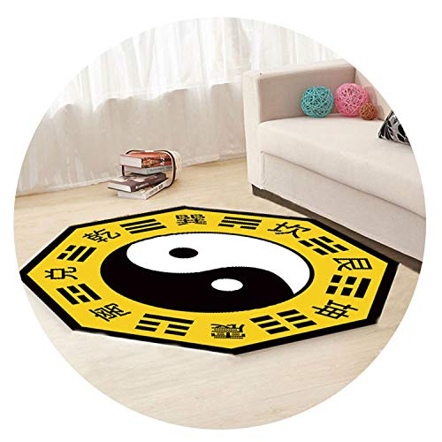 Taoist Gossip Taiji Printed Carpet Buddhist Taoist Meditating on a Practice Carpets for Living Room Bedroom Decor Rug Can Custom,W,Custom Size -