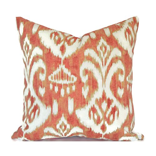 Outdoor Decorative Throw Pillow Cover Any Size OD Rivoli Coral