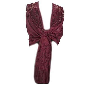 prezzo all'ingrosso negozio online outlet online Dabixx Scialle, 185x63cm Sciarpa Donna 1920 avvolge Scava ...